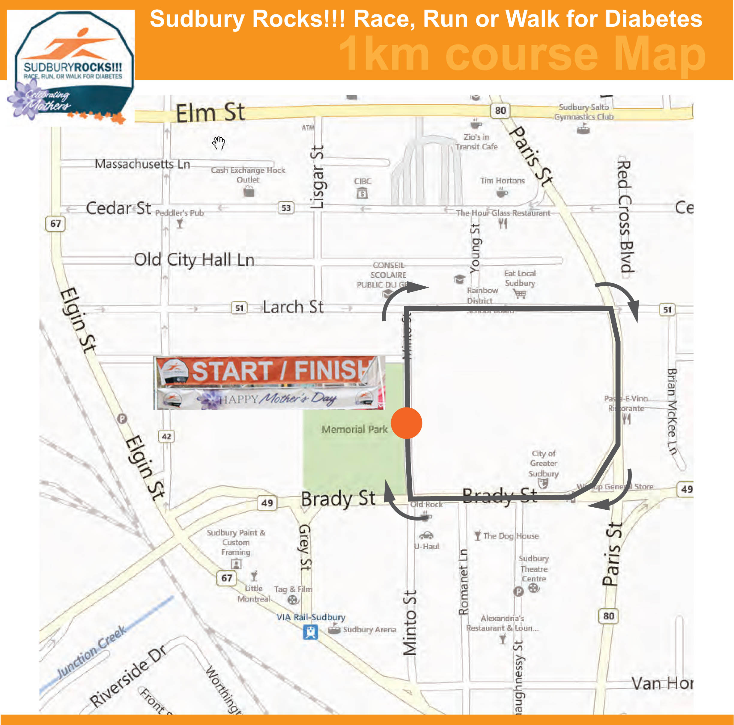 Sudbury Rocks 1km Route