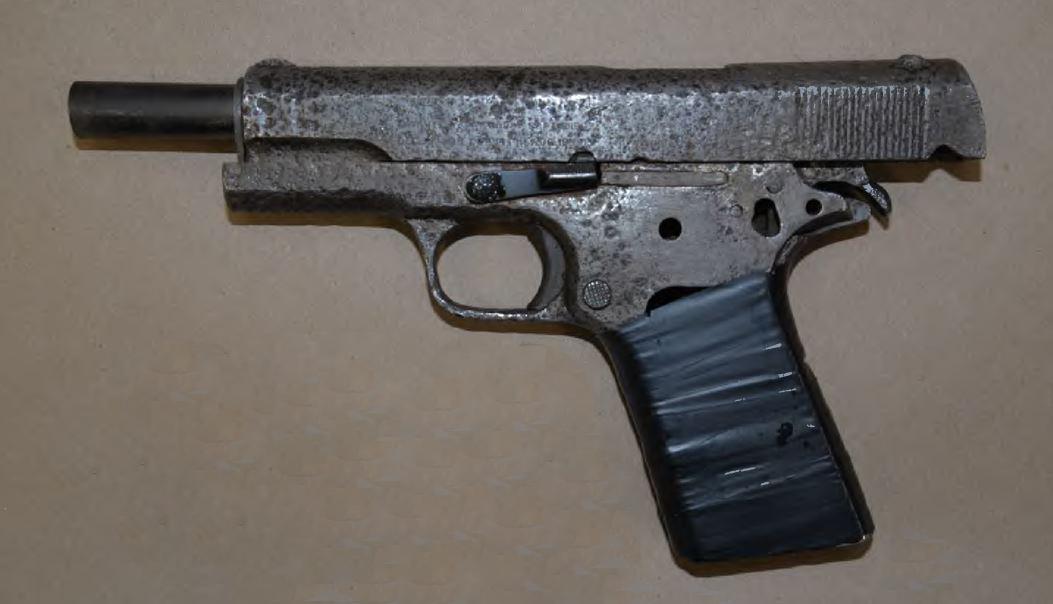 seized hand gun